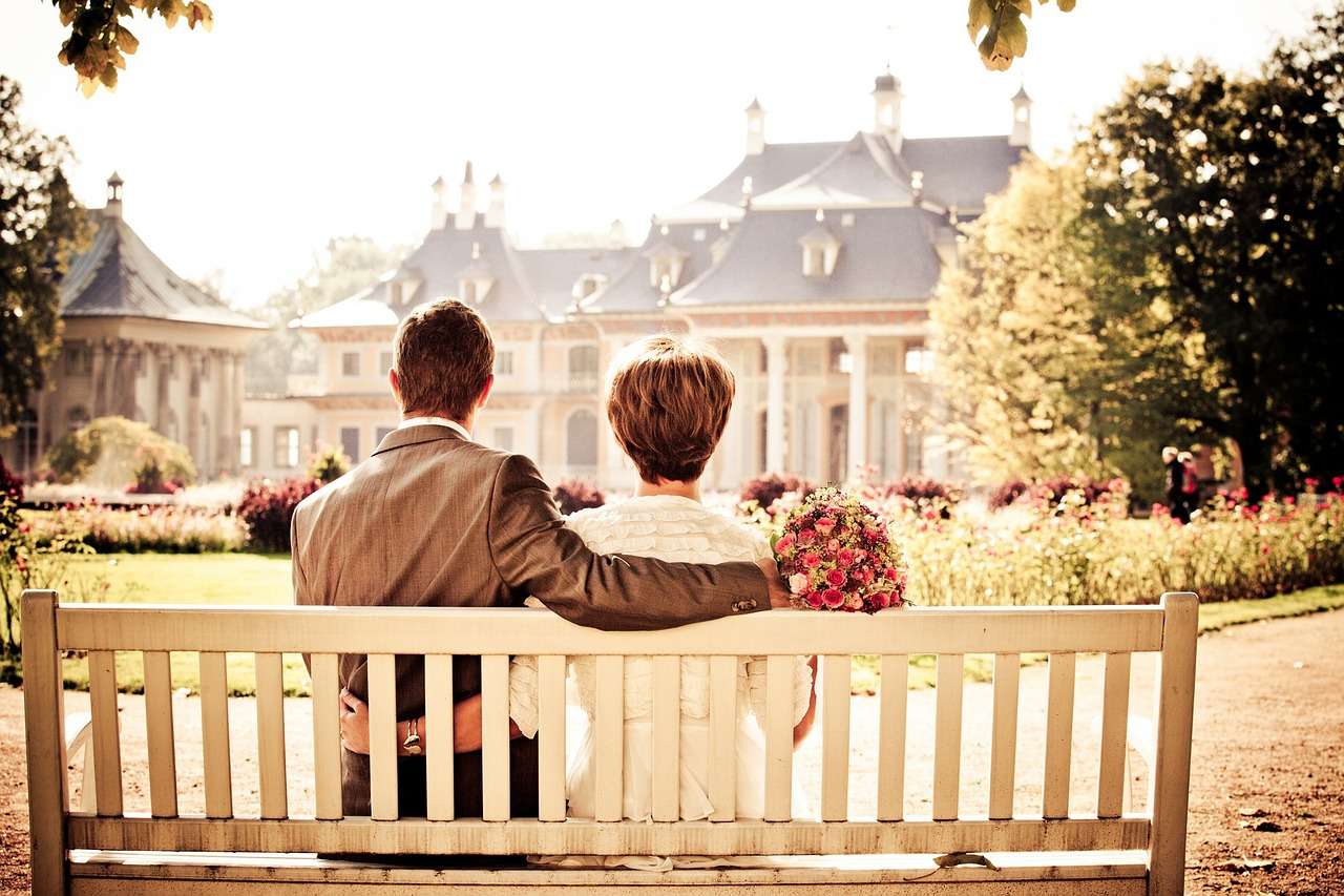 Couple on bench seat