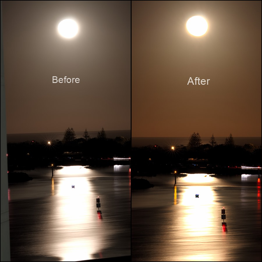 Before and After Editing Photo