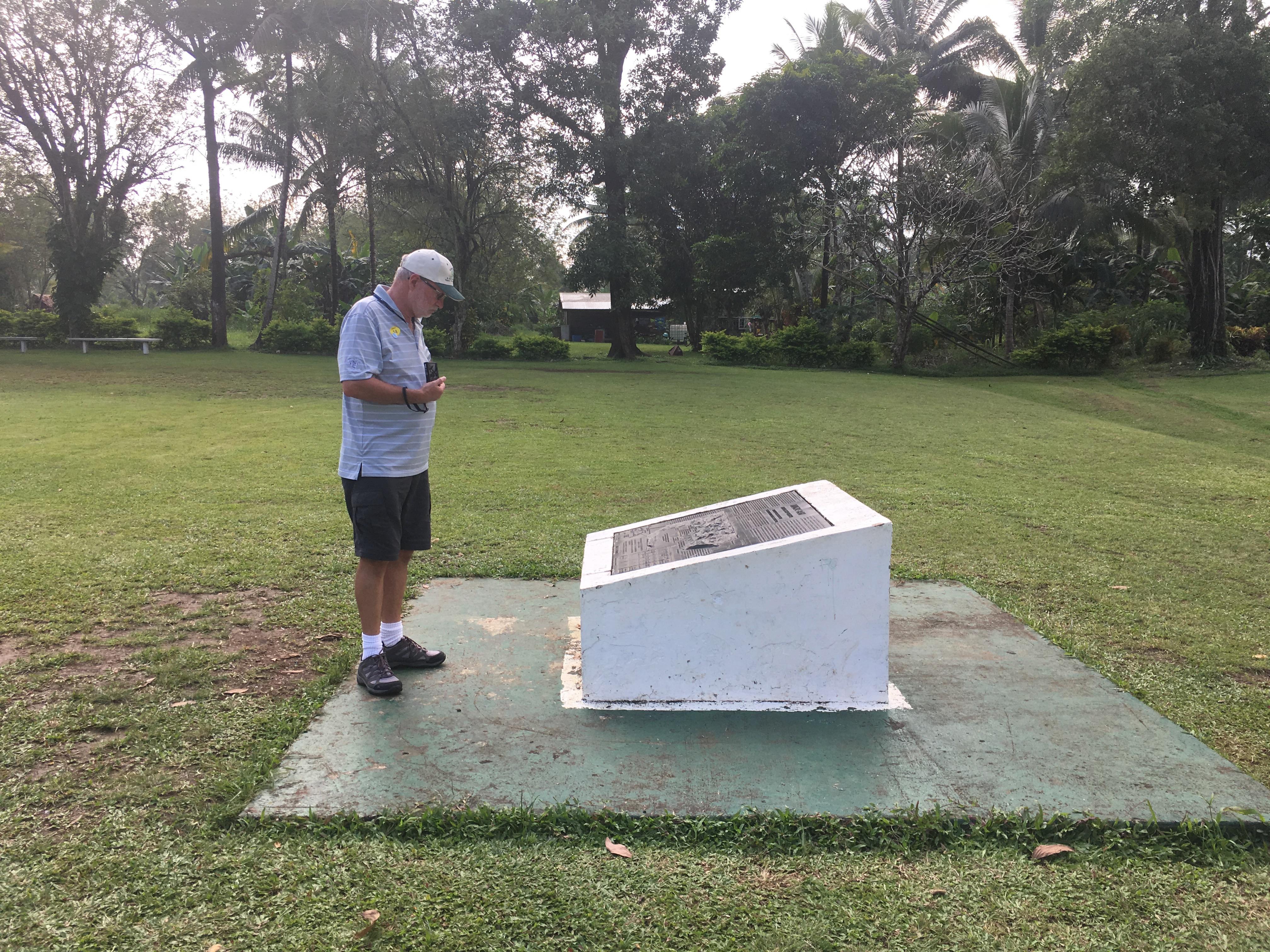Battle memorial Third runway Milne Bay