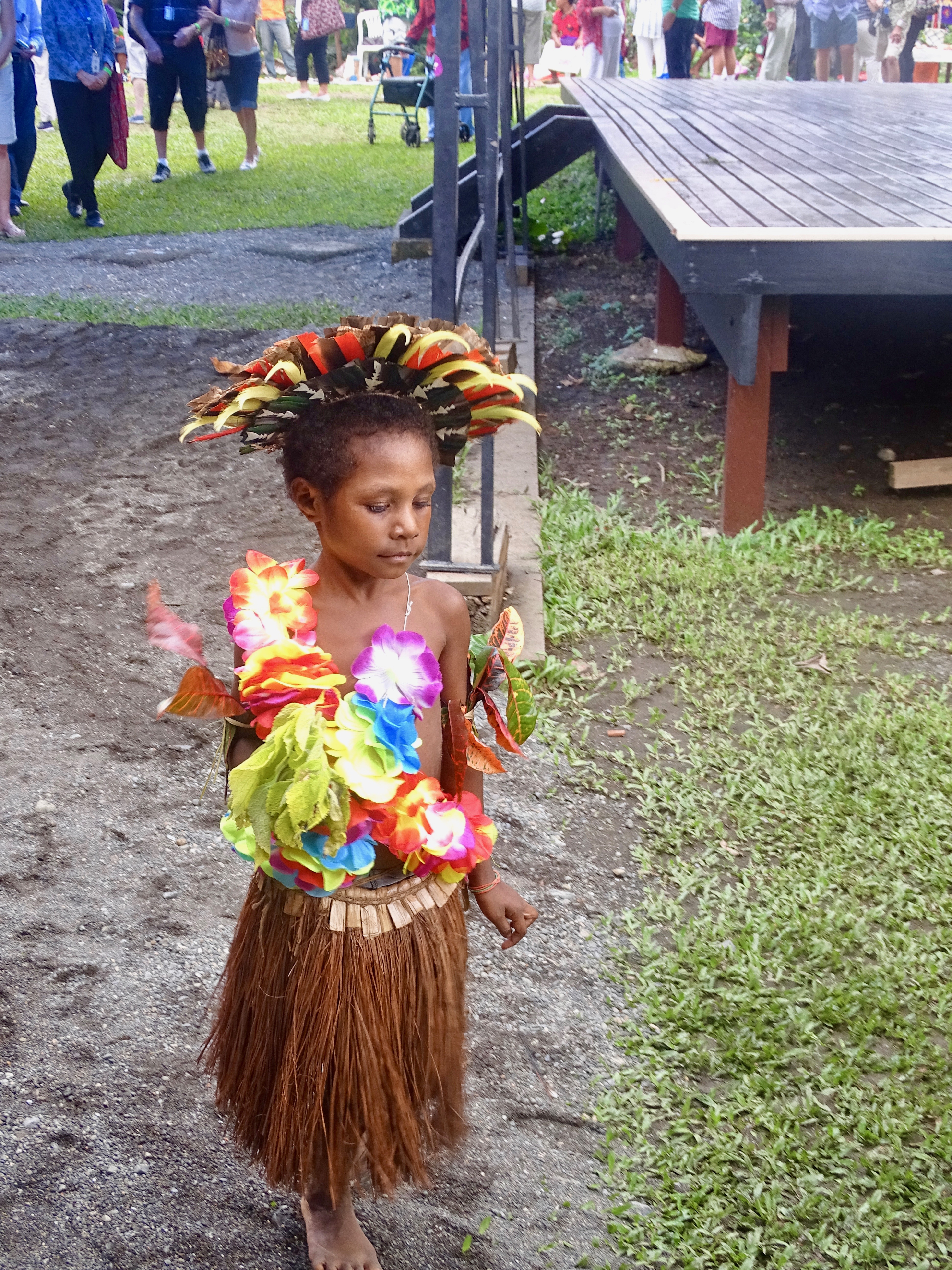 Child dancer in cultural dress