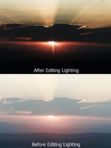 Light Levels before/after