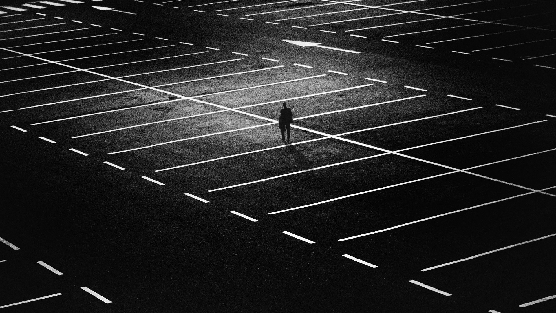 Man in car park