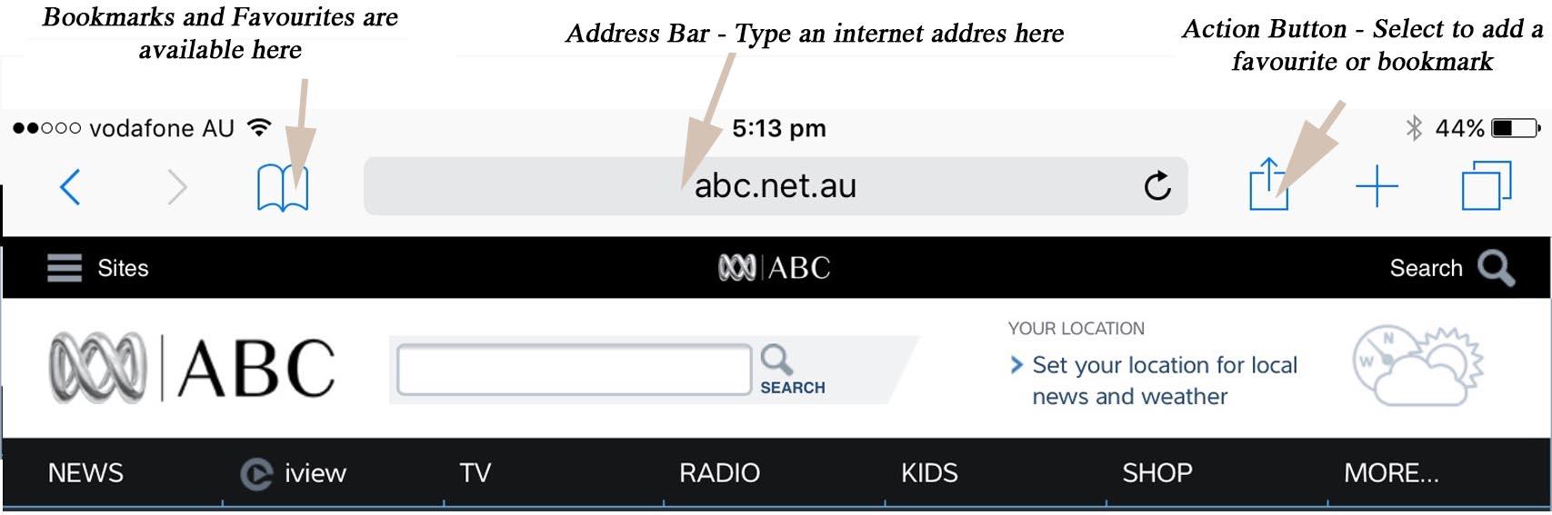 Safari top image