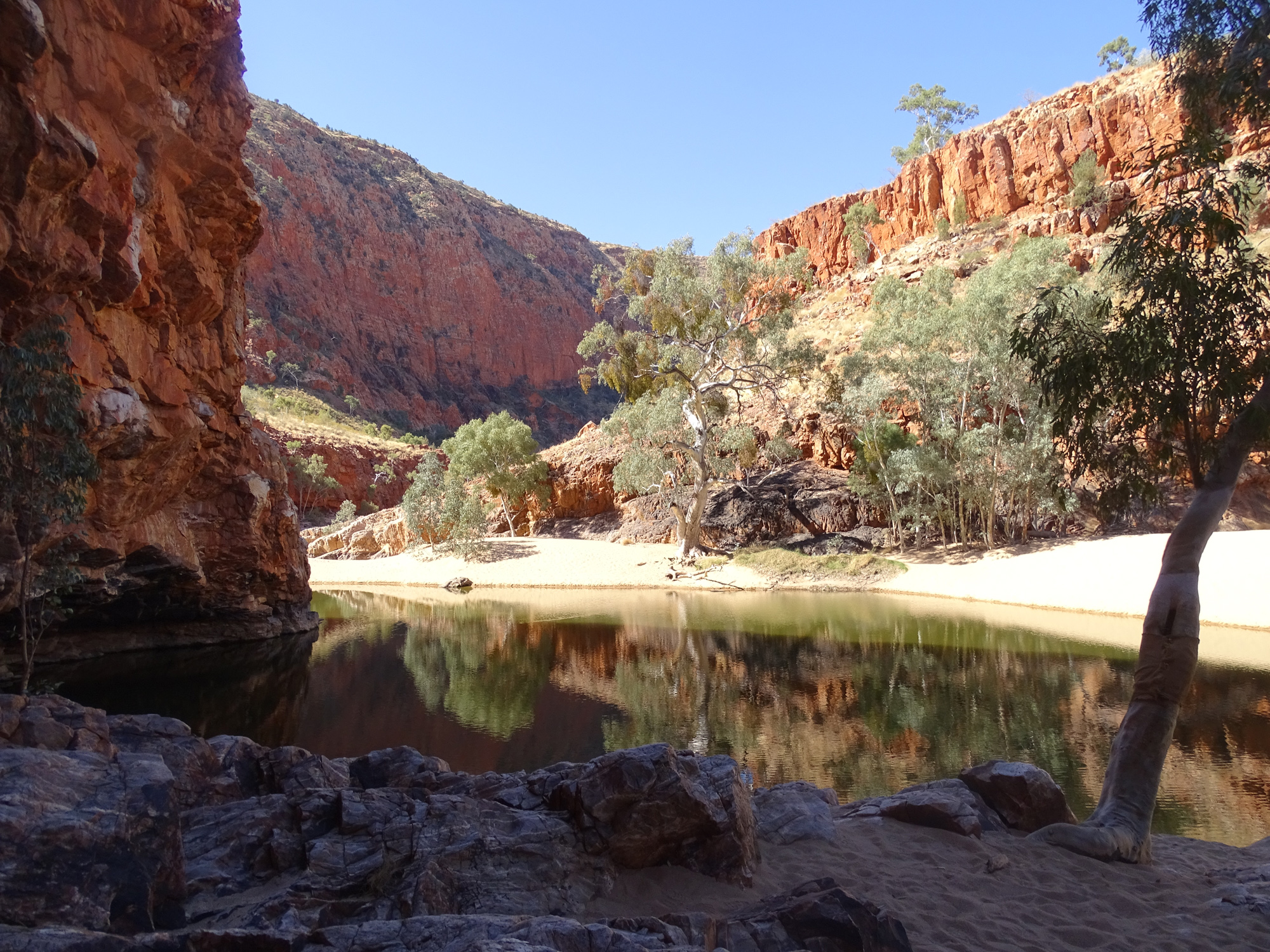 Orminston gorge creek and cliffs