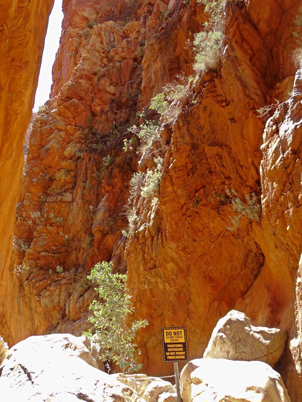 Canyon walls central Australia
