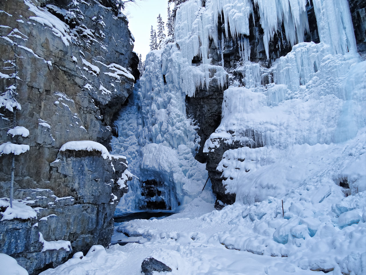 Canada Frozen Water Fall_
