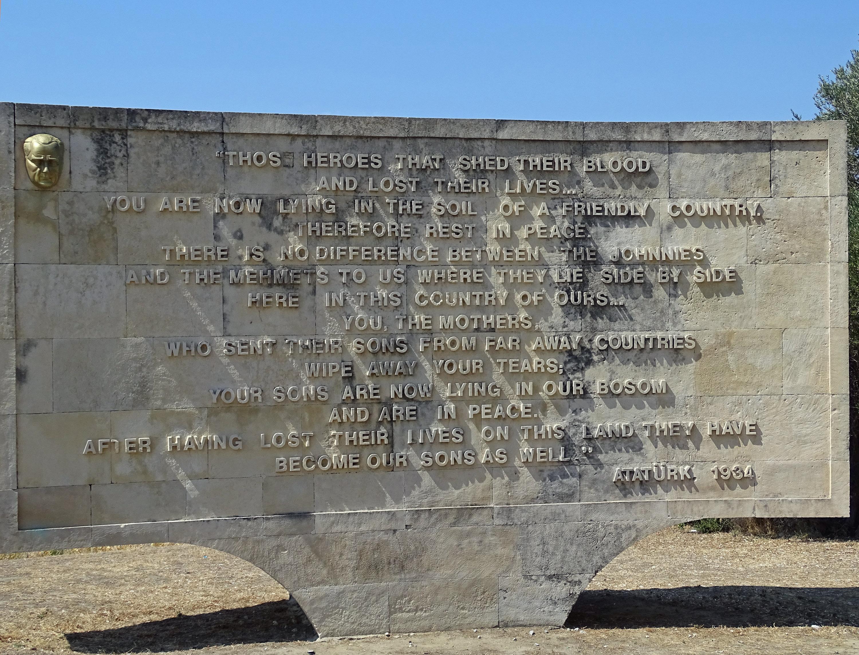 Ataturk quote Gallipoli