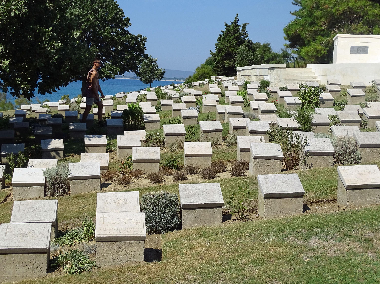 War graves at Gallipoli beach