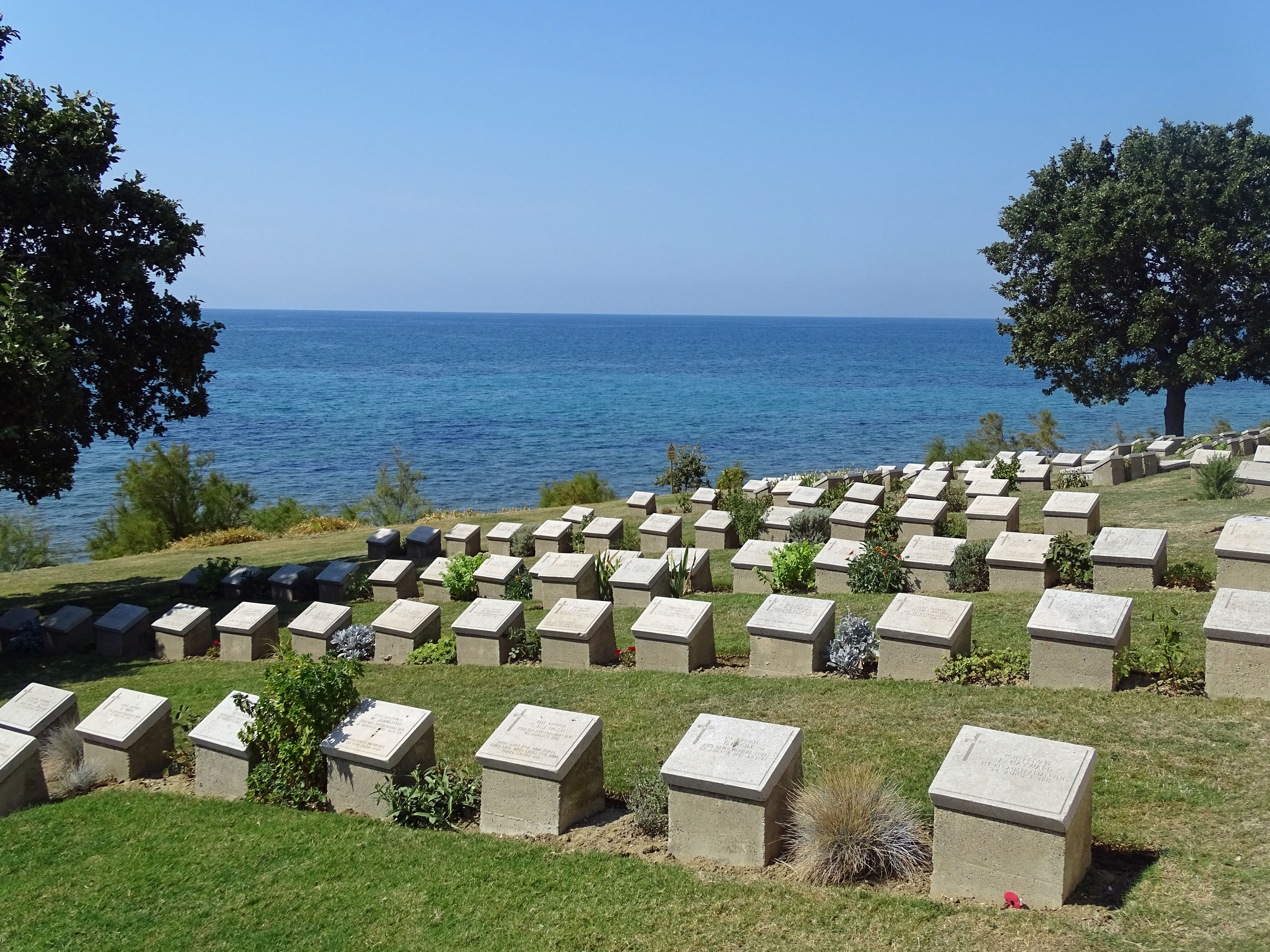 war graves by the sea