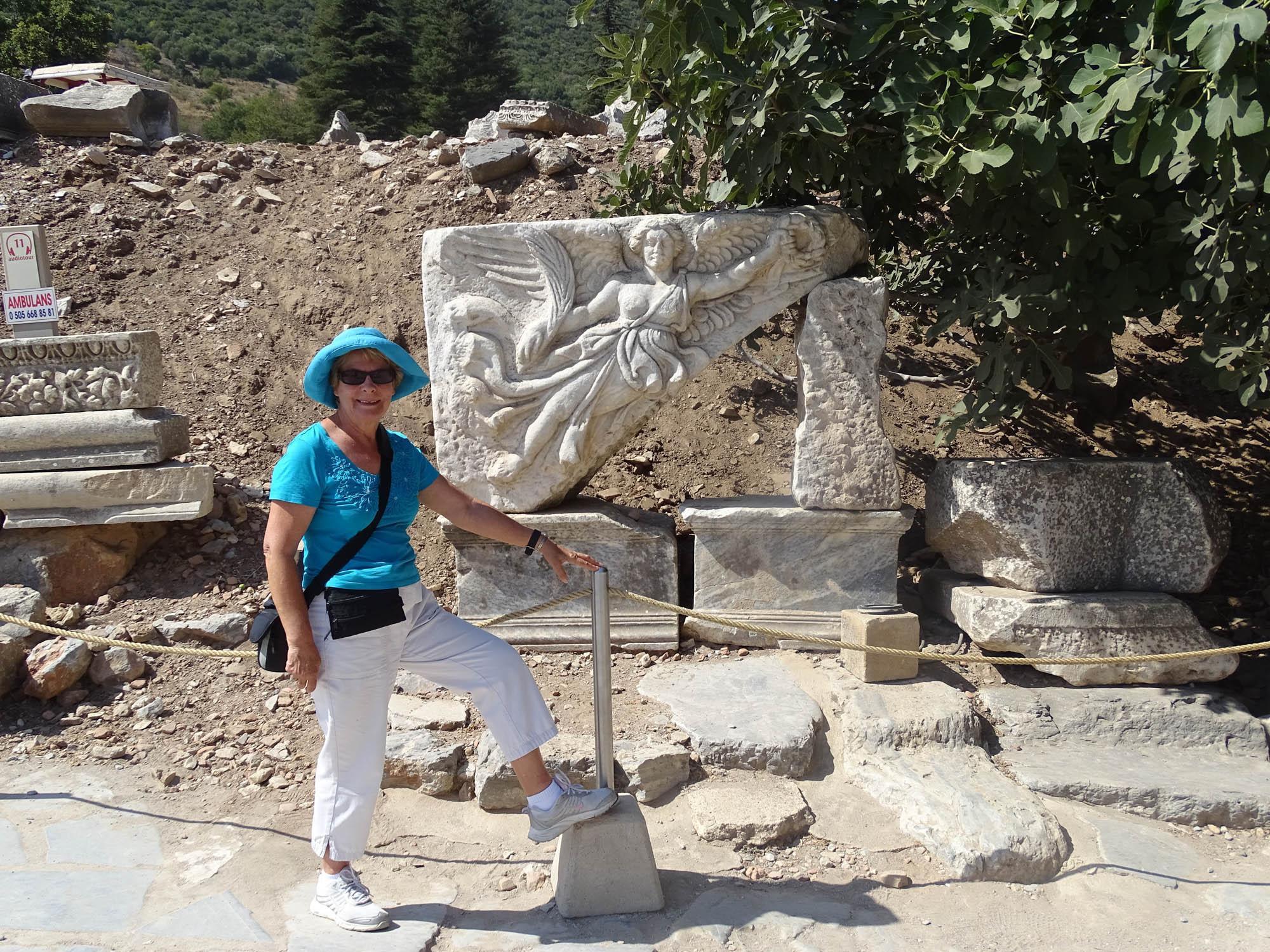 Nike statue in Ephesus