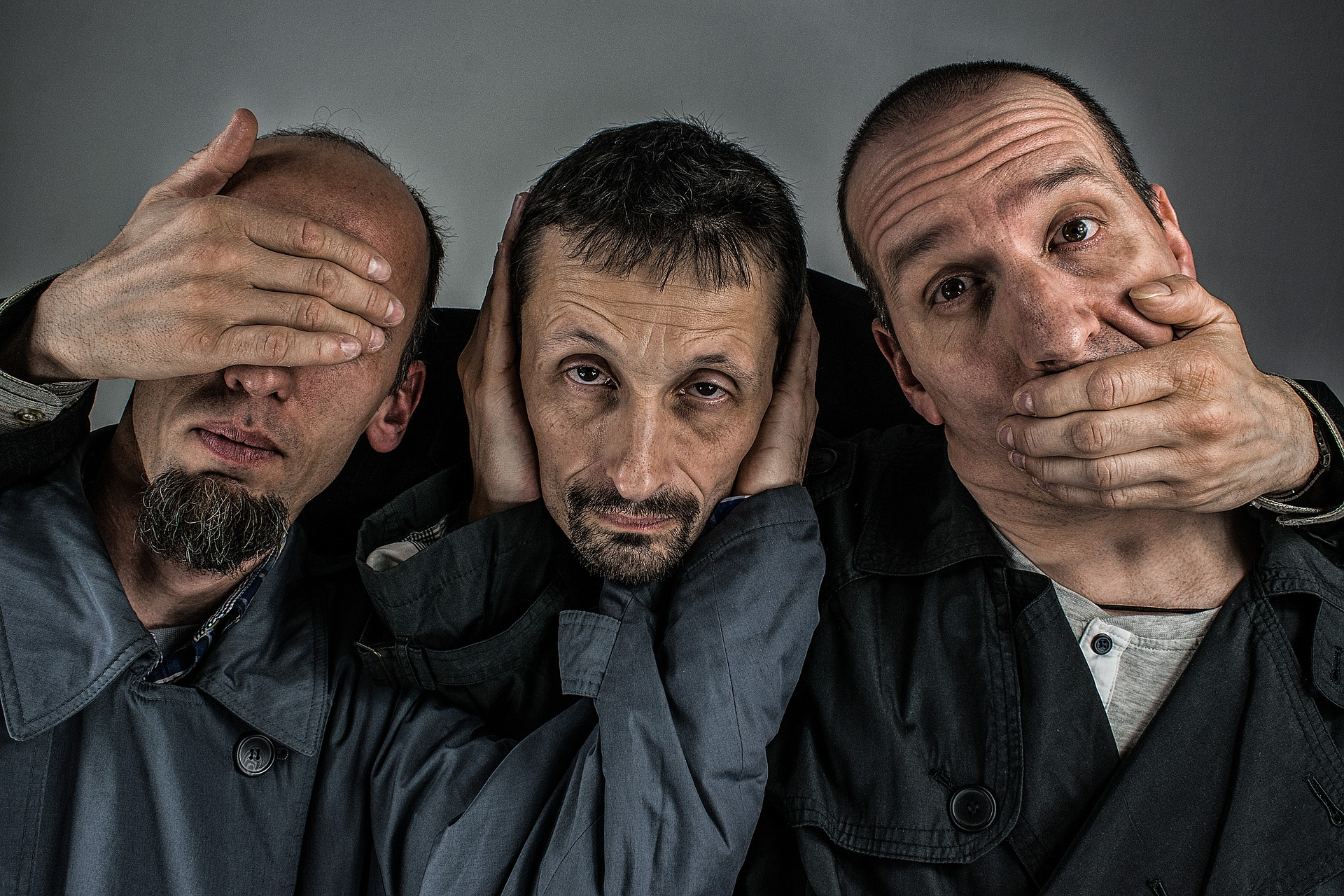 Hear no evil, see no evil and speak no evil