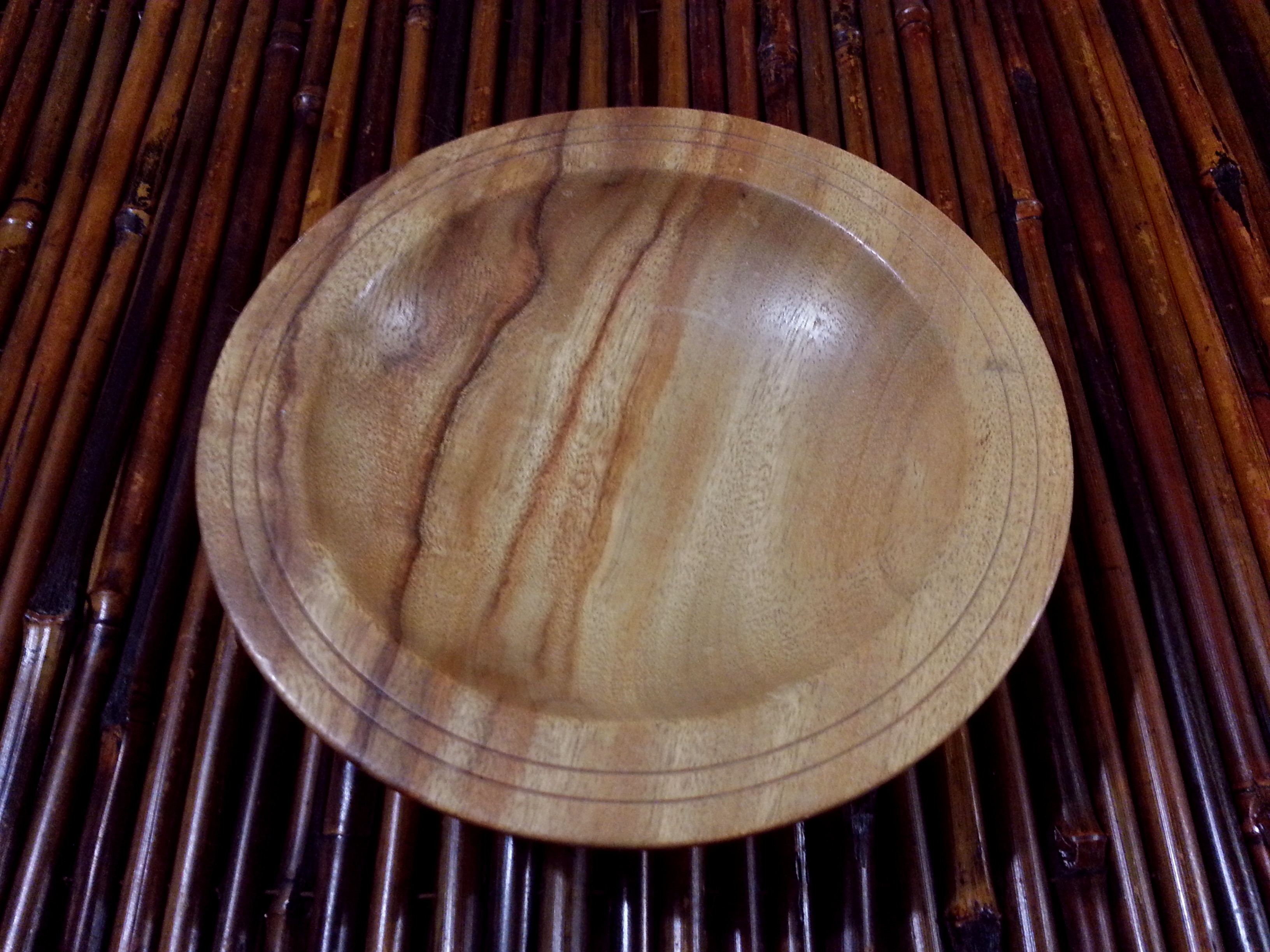 Turned wooden dish