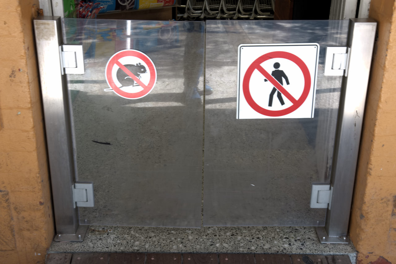 No Quokkas Sign