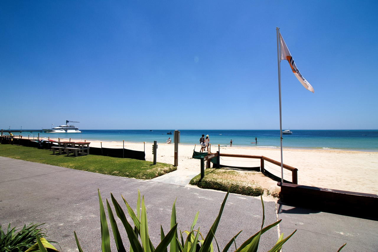 View from Beach Cafe Tangalooma